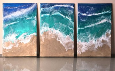 How I achieve cells and lacing on my resin beach scenes.