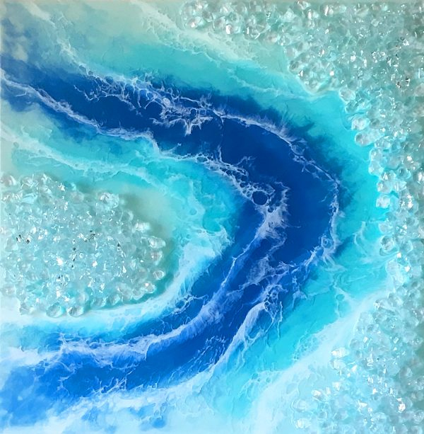 Melting Icecaps - Resin Art by Sue Findlay Designs