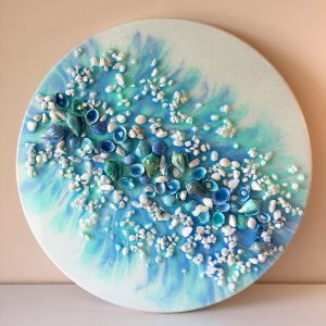 Castaway Shores - Resin and Shells Art by Sue Findlay Designs