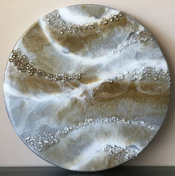 Hint of Glamour - Resin Art by Sue Findlay Designs