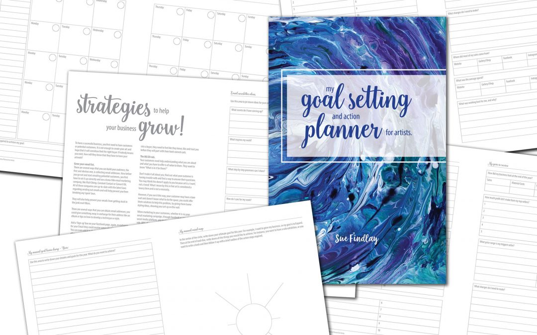 My Book has arrived – My Goal Setting and Action Planner for Artists