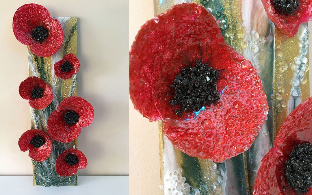 My ANZAC Day Tribute – Freeform Resin Poppies