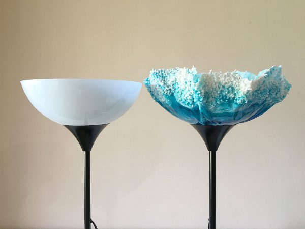 Ocean-Inspired IKEA Resin Lampshade