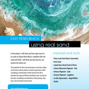 Step-by-step guide to creating an easy resin beach