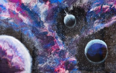 Resin and Acrylic Paint Galaxy Art – How I fixed an almost resin fail!