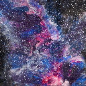 Starry Starry Night - Resin Art by Sue Findlay