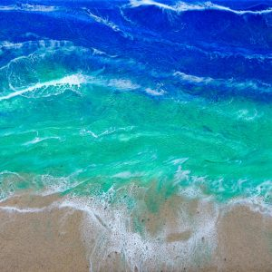Beach Resin Art by Sue Findlay Designs