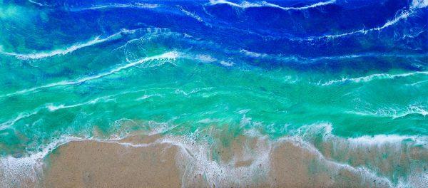 Beach Resin Art by Sue Findlay Designs