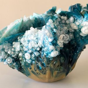 Ocean Floor - Resin Sculpture by Sue Findlay Designs