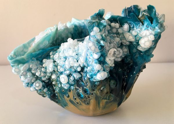Ocean Floor - Resin Sculpture by Sue Findlay Designs