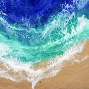 Riptide - Beach Resin Art by Sue Findlay Designs