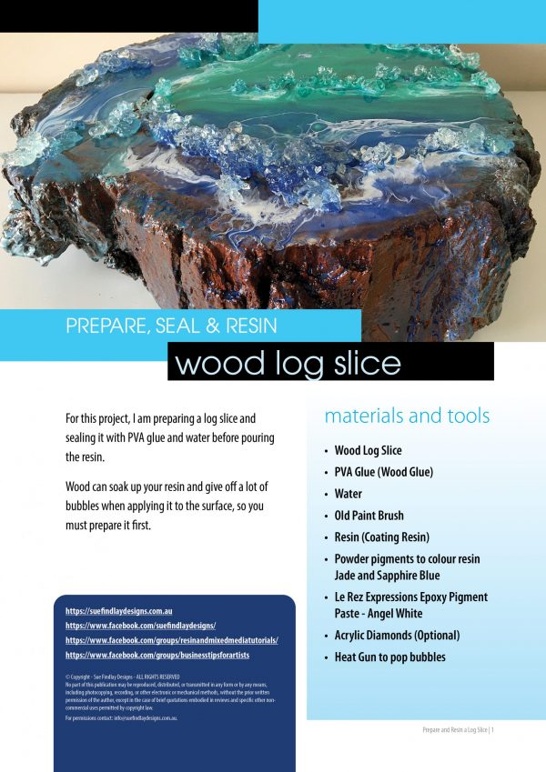 Resin Log Slice - step by step guide