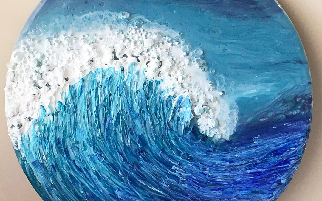 How to add texture to your resin waves – time-lapse